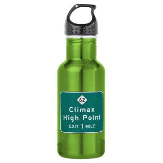 Climax, Road Marker, North Carolina, USA Water Bottle