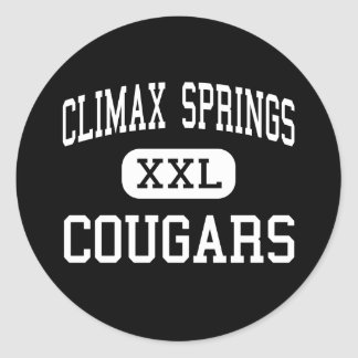 Climax Springs - Cougars - High - Climax Springs Classic Round Sticker