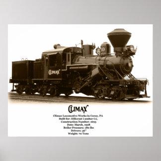 Climax Steam Locomotive Poster