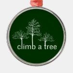 Climb a tree design christmas ornaments