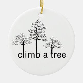 Climb a tree design christmas tree ornament
