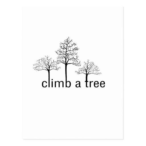 Climb a tree design postcard