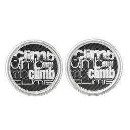 Climb; Black & Dark Gray Stripes Cufflinks