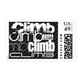 Climb; Black & Dark Gray Stripes Postage