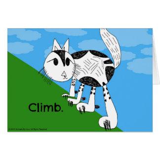 Climb! Cute Kitty Notecard