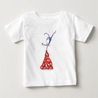 climb every mountain - cat cartoon, tony fernandes baby T-Shirt