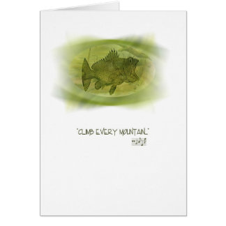 Climb Every Mountain Good Luck Greeting Card