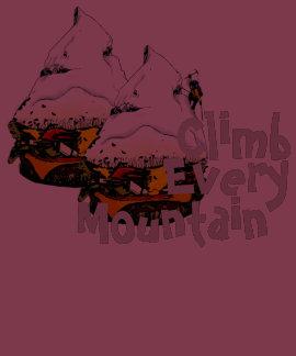 Climb Every Mountain Hamburger T-Shirt