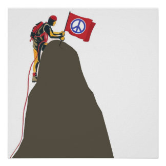 Climb for Peace for walls Poster