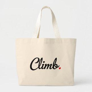 climb large tote bag