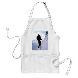 climb mountain challenge and success adult apron