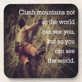 Climb Mountains Drink Coasters