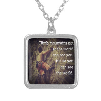 Climb Mountains Personalized Necklace