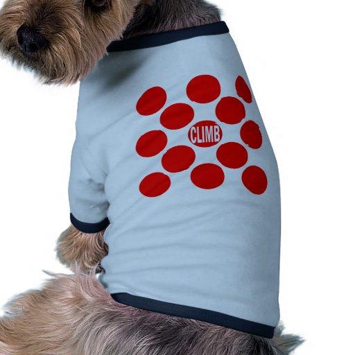 Climb Red Dot Doggie T Shirt