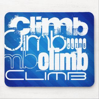 Climb; Royal Blue Stripes Mouse Pad