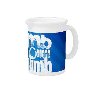Climb; Royal Blue Stripes Drink Pitchers