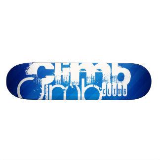 Climb; Royal Blue Stripes Skateboard Deck