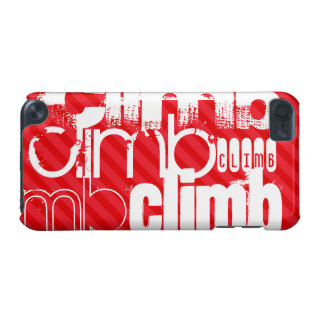 Climb; Scarlet Red Stripes iPod Touch (5th Generation) Cover