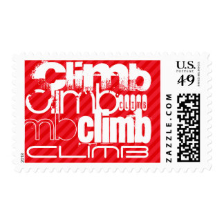 Climb; Scarlet Red Stripes Postage