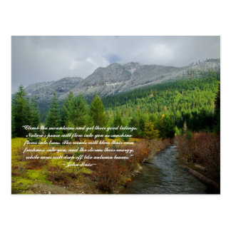 Climb the mountains postcard