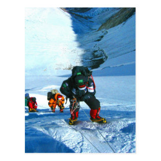 Climb to goal and success mount everest postcard