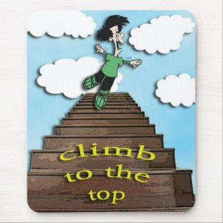 climb to the top -motivating messages mousepad mousepad