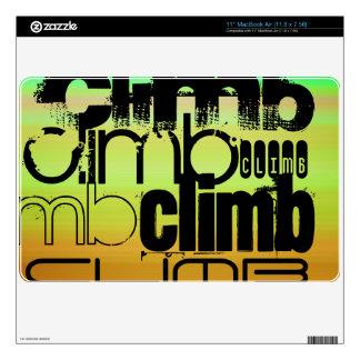 Climb; Vibrant Green, Orange, & Yellow Decal For The MacBook