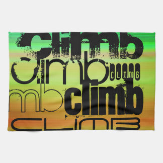 Climb; Vibrant Green, Orange, & Yellow Towels