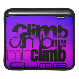 Climb; Vibrant Violet Blue and Magenta iPad Sleeve