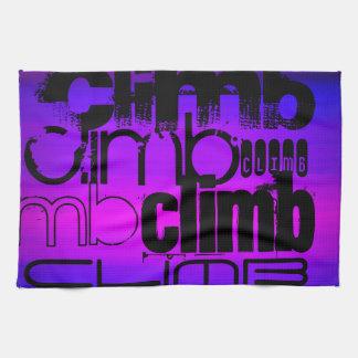 Climb; Vibrant Violet Blue and Magenta Towels