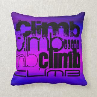 Climb; Vibrant Violet Blue and Magenta Throw Pillow