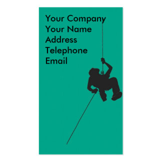Climber Abseiling or Rappelling Business Card