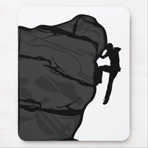 Climber Bouldering Mousepad