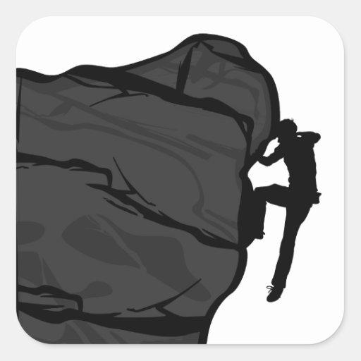 Climber Bouldering Square Sticker