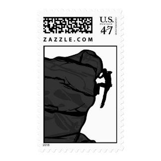 Climber Bouldering Stamp