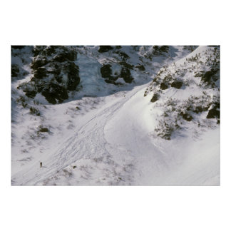 Climber in Tuckerman's Ravine, Mount Washington Poster