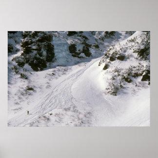 Climber in Tuckerman's Ravine, Mount Washington Poster
