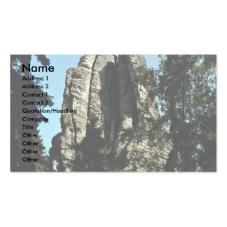 Climber jumping from one rock top to another, Czec Double-Sided Standard Business Cards (Pack Of 100)