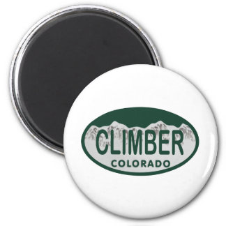 climber license oval 2 inch round magnet