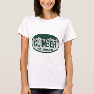climber license oval T-Shirt