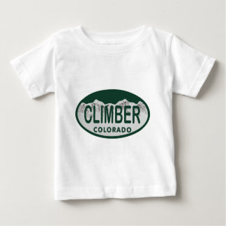climber license oval t shirts