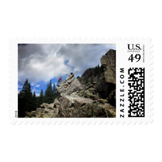 Climber - Weminuche Wilderness - Colorado Postage Stamp