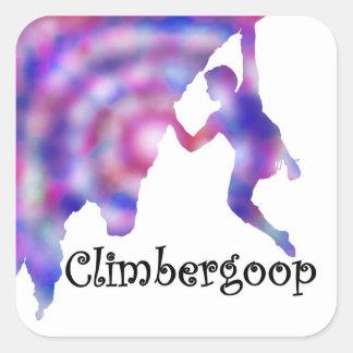 climbergoop logo rock climber stickers