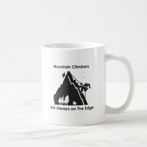 Climbers Are Always On the Edge Classic White Coffee Mug