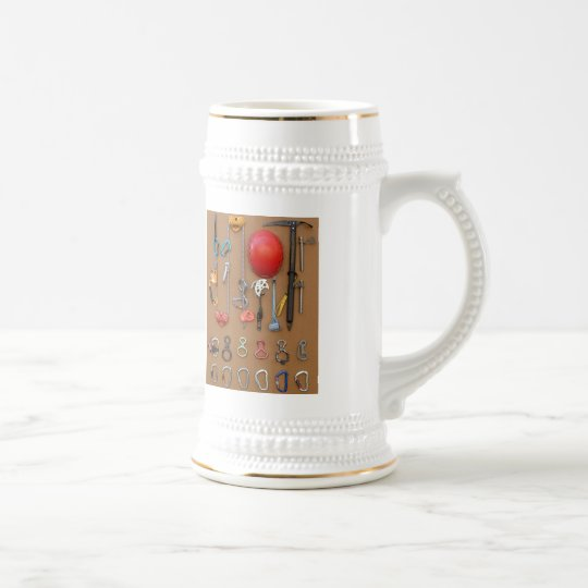 Climbers equipment -- beer stein for mountaineers