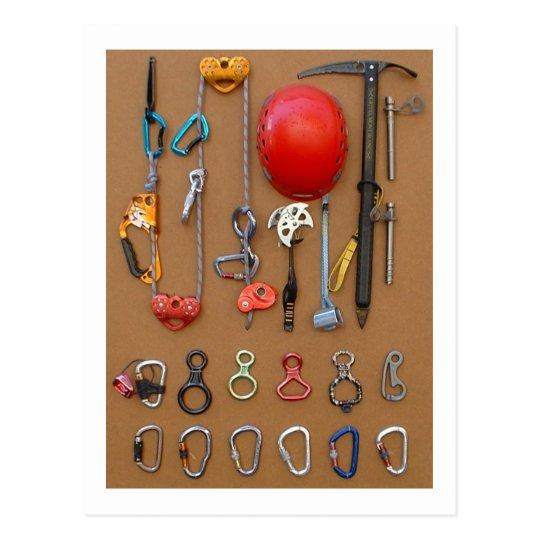 Climbers equipment -- postcard