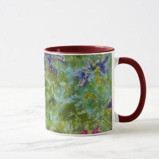 """Climbers"" Garden Floral Art watercolor Mug"