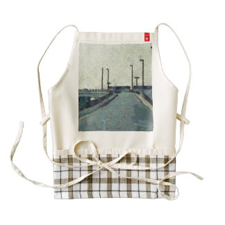 Climbing a ramp on the highway zazzle HEART apron