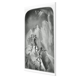 Climbing at Night, from 'Ten Scenes in the Last As Canvas Print