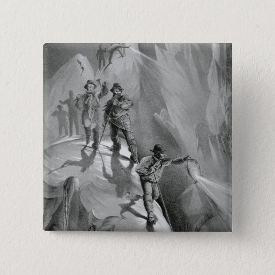 Climbing at Night, from 'Ten Scenes in the Last As Pinback Button
